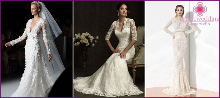 Wedding dress year with sleeves
