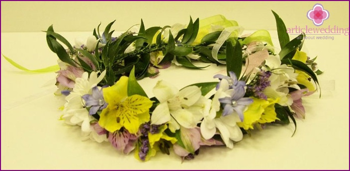 A selection of wedding wreaths