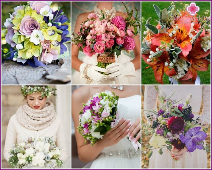 Wedding bouquets of 2015 are diverse