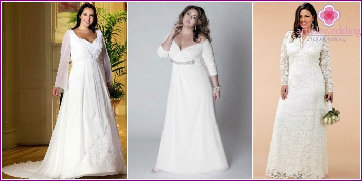Clothes for magnificent brides in Greek
