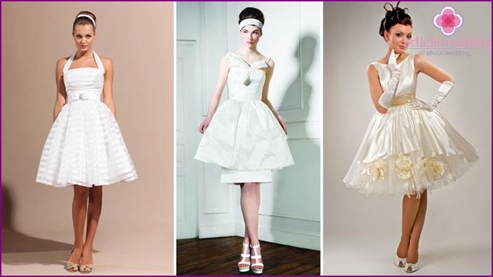 Full skirt wedding outfit