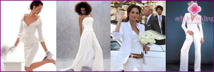 See-through wedding trouser suit