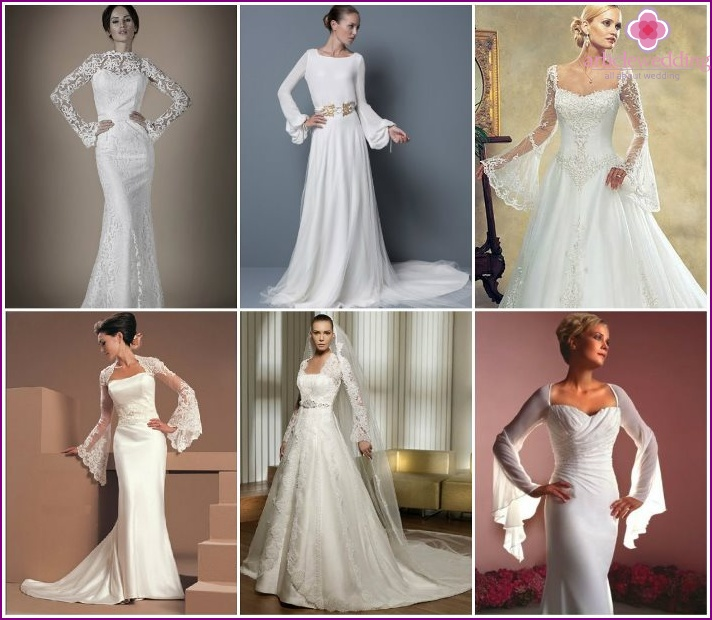 Wedding styles with flared sleeves