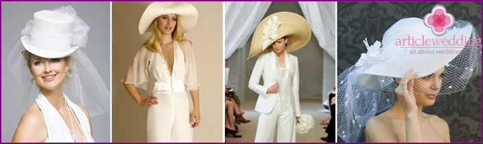 Hat - a beautiful accessory for a wedding suit