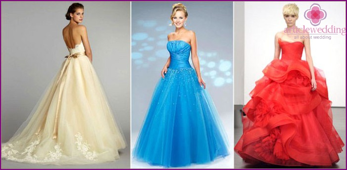 Trendy color wedding dresses