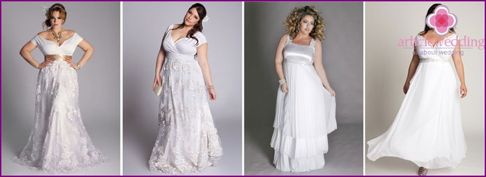 Greek bridal gown for full with straps