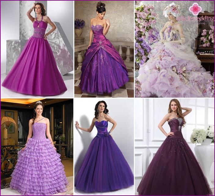 Lilac wedding decoration