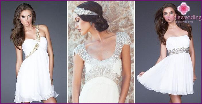 Straight bodice in greek wedding dress