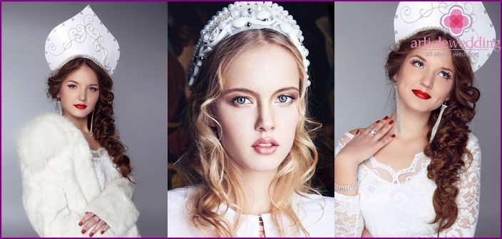 Stylized bride dress from designers