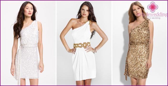 Greek short wedding dresses