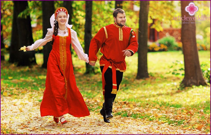 Russisches Hochzeitskleid