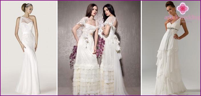 Bohemian style in wedding dresses