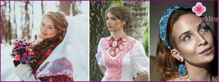 Slavic style dress accessories