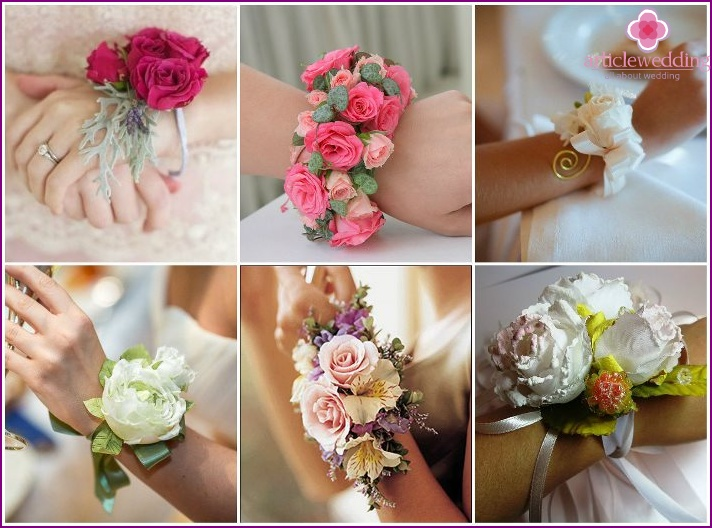 Boutonniere for the bride with roses