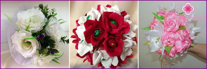 Weiße Bouquet-Zweitbesetzung