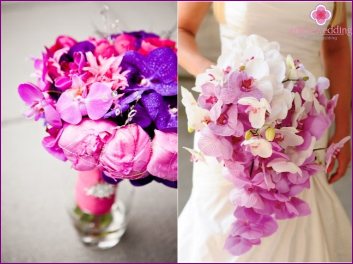 The meaning of purple in a wedding bouquet