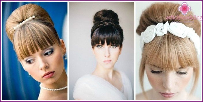 photo: Wedding styling with straight bangs