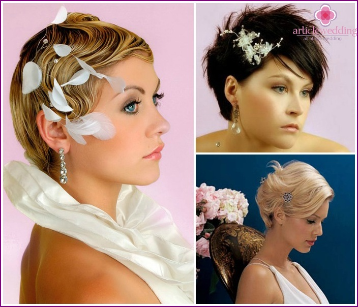 Photo: Hairstyles for the bride for short hair