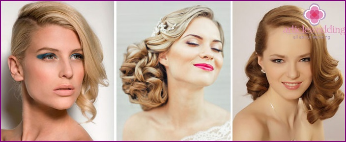 Asymmetric Wedding Hairstyle