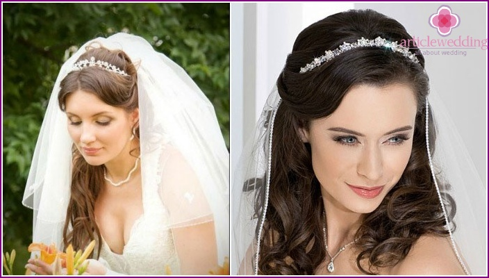 Photo: styling accessories - diadem and veil