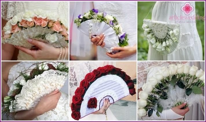 Flower fan for the bride