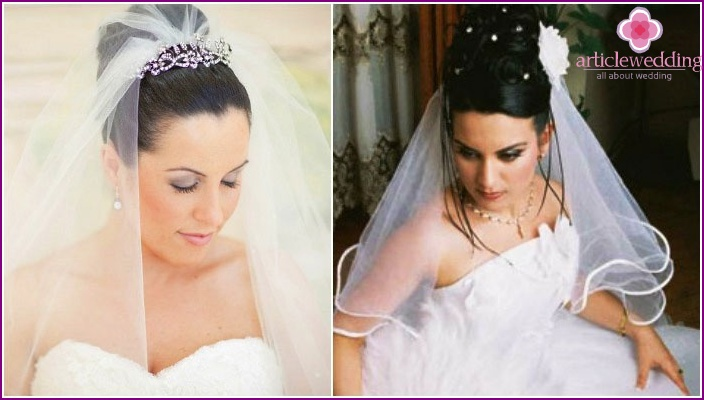 Photo: high hairstyles for wedding with veil