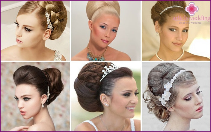 Simple bridal styling: babette