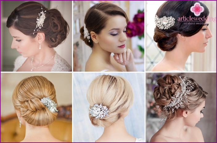 Wedding bun with comb