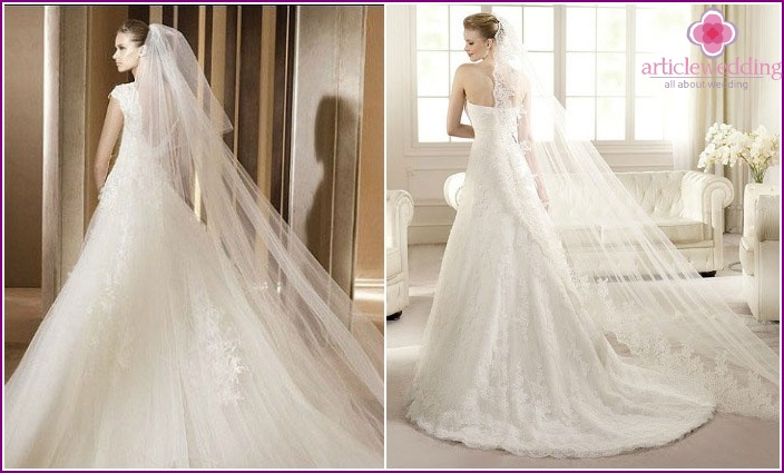 Photo: we select styling under a long veil