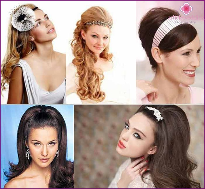 The image of the bride: retro styling from overhead strands