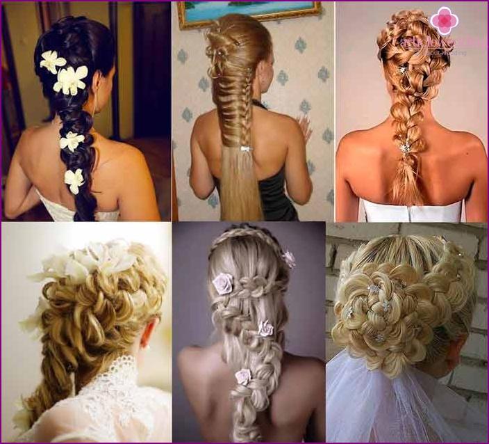 Wedding braids with braids