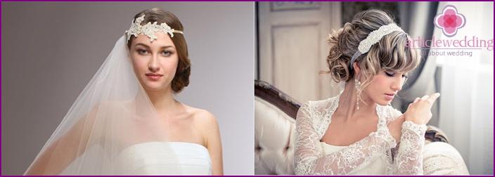Hoop for bride hairstyle