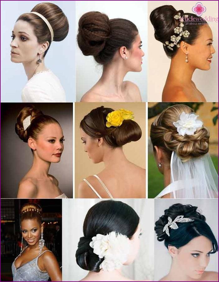 Bundles with false strands for a wedding look