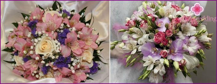 Wedding bouquet with Peruvian beauty