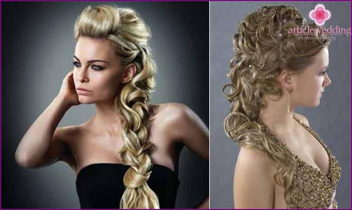 Wedding hairstyles using false chignon