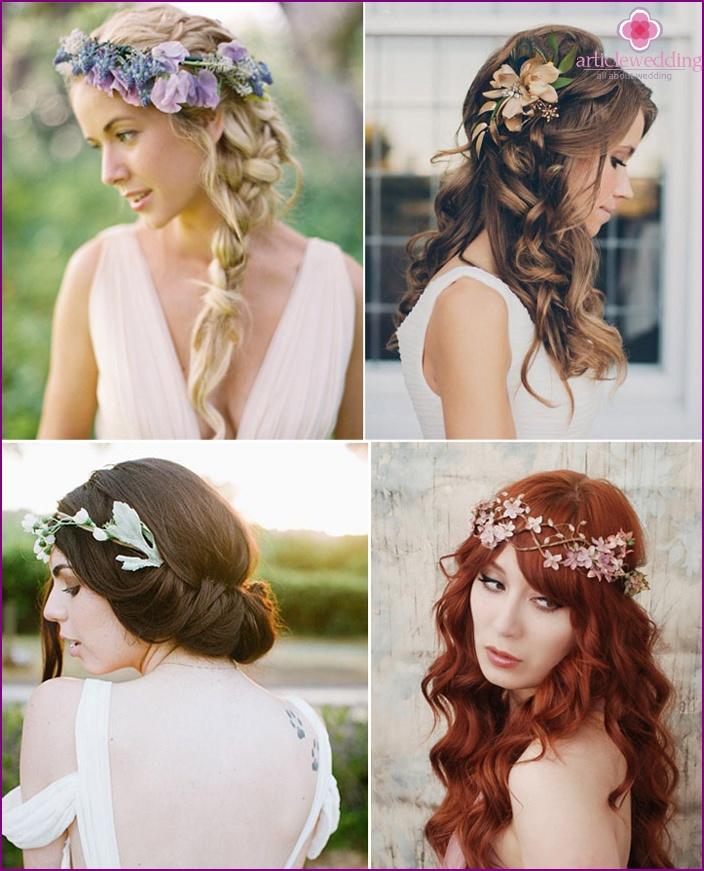 Flower headband for wedding