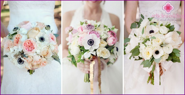 Bridal Composition: Anemone with Ranunculus