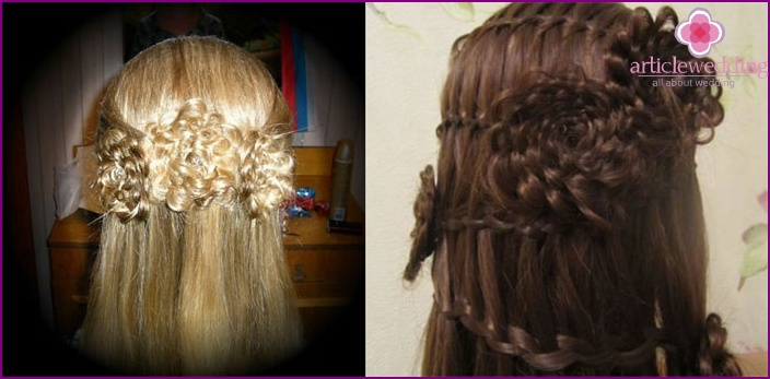 The image of the bride: a masterpiece of braids