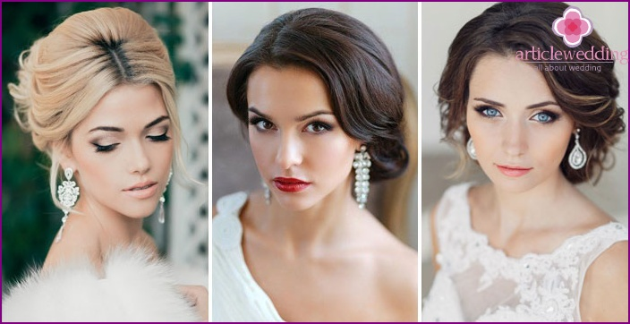 Fashionable hairstyles for brides