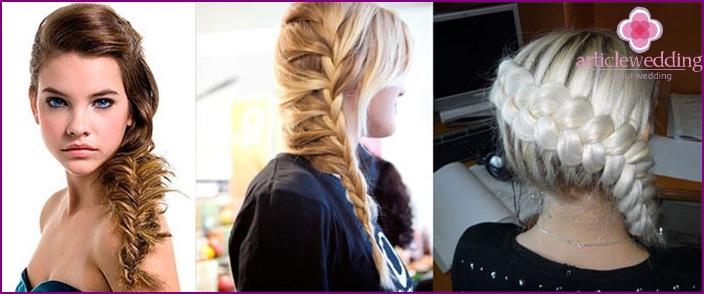 Asymmetric weave wedding styling