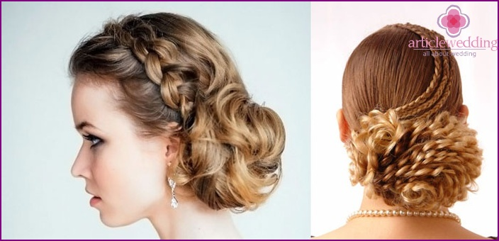 Twisted braids and bun for wedding