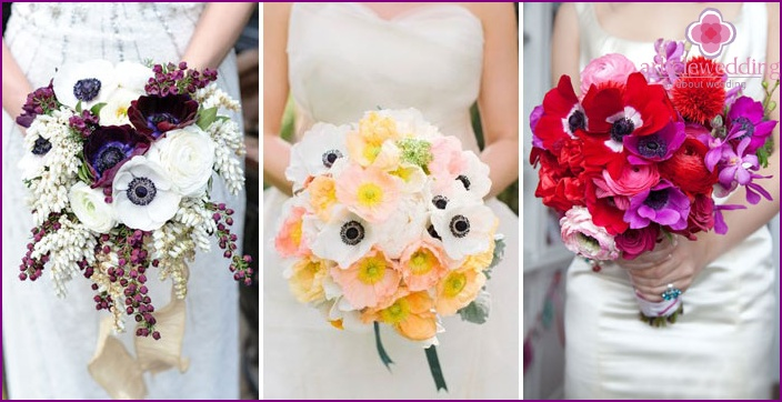 Bright floral accessory for the bride and groom