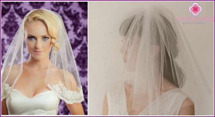 Wedding hairstyles 2015: short veil