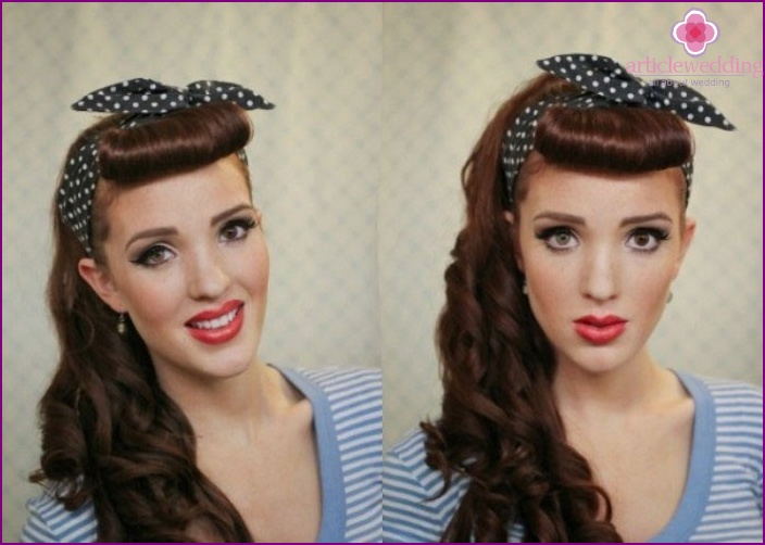 Elegant retro hairstyle with bangs