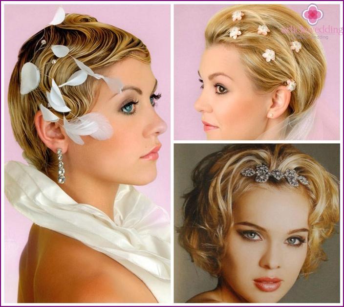 Short hair wedding styling 2015