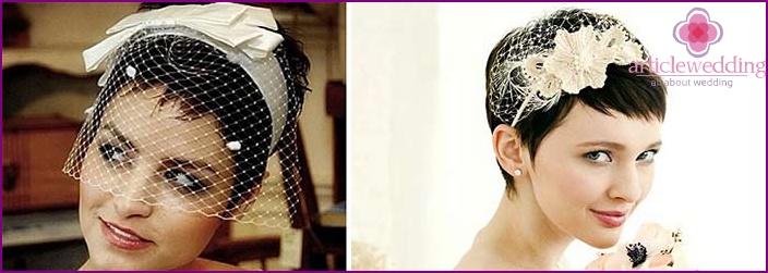 Veil for short hair length