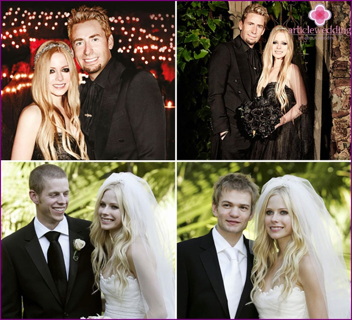Hairstyles Avril Lavigne for the wedding