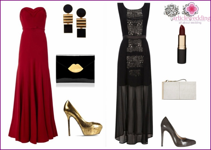 Winter wedding accessories and shoes