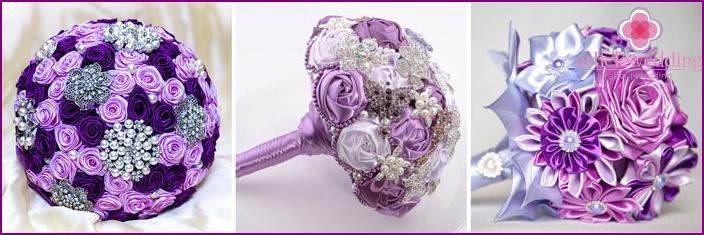 Purple bouquet for the bride