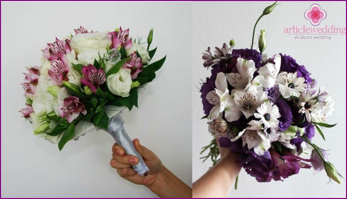 Eustoma flower arrangement with alstroemeria